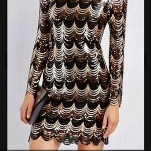 ♥️Charlotte Russe Silver Sequin Gatsby Dress